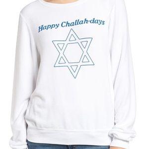 Wildfox Happy Challah-days Chanukah BBJ Sweatshirt